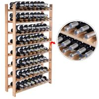 New 120 Bottle Wood Wine Rack 8 Tier Storage Display ...