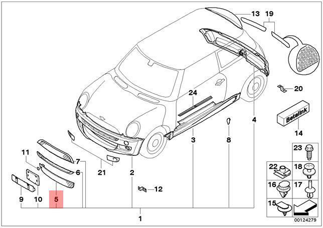2013 Hyundai Elantra Front Bumper Parts Diagram