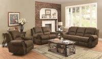 Traditional 3P Reclining Sofa Loveseat Chair with Nailhead ...