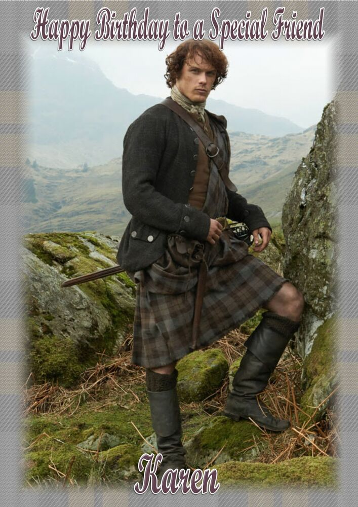 Personalised Birthday Card Sam Heughan Outlander EBay