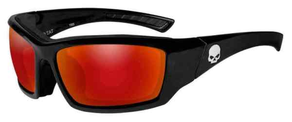 HarleyDavidson Men39s Tat Skull Gasket Sunglasses Red