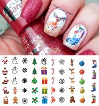 Holiday Christmas Nail Art Waterslide Decals - Salon ...