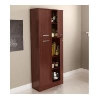 Food Pantry Cabinet with Doors Tall Wood Free Standing ...