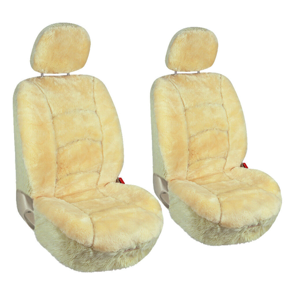 Champagne Chair Covers Pair Of Car Front Seat Covers Low Back Universal Australian Sheepskin Champagne Ebay