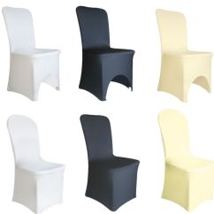 Ebay Ivory Chair Covers Wedding Hire Liverpool Spandex Lycra Cover White Black Banquet Party |