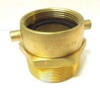 "FIRE HOSE FITTING 2-1/2 FEMALE NST X 3"" MALE NPT BRASS ..."