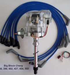 details about big block 396 427 496 chevy clear cap hei distributor blue plug wires 45 degree [ 1000 x 849 Pixel ]