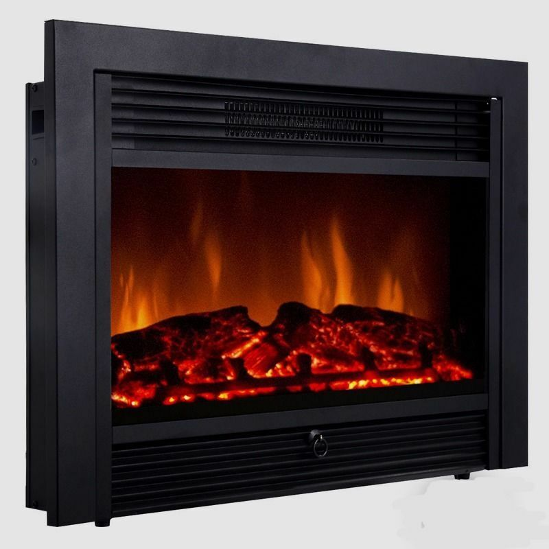 "Large Electric Fireplace Stove Embeddable Electric Wall Insert Fireplace 28.5"" Home"