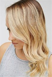 charming iron jewels hair extension