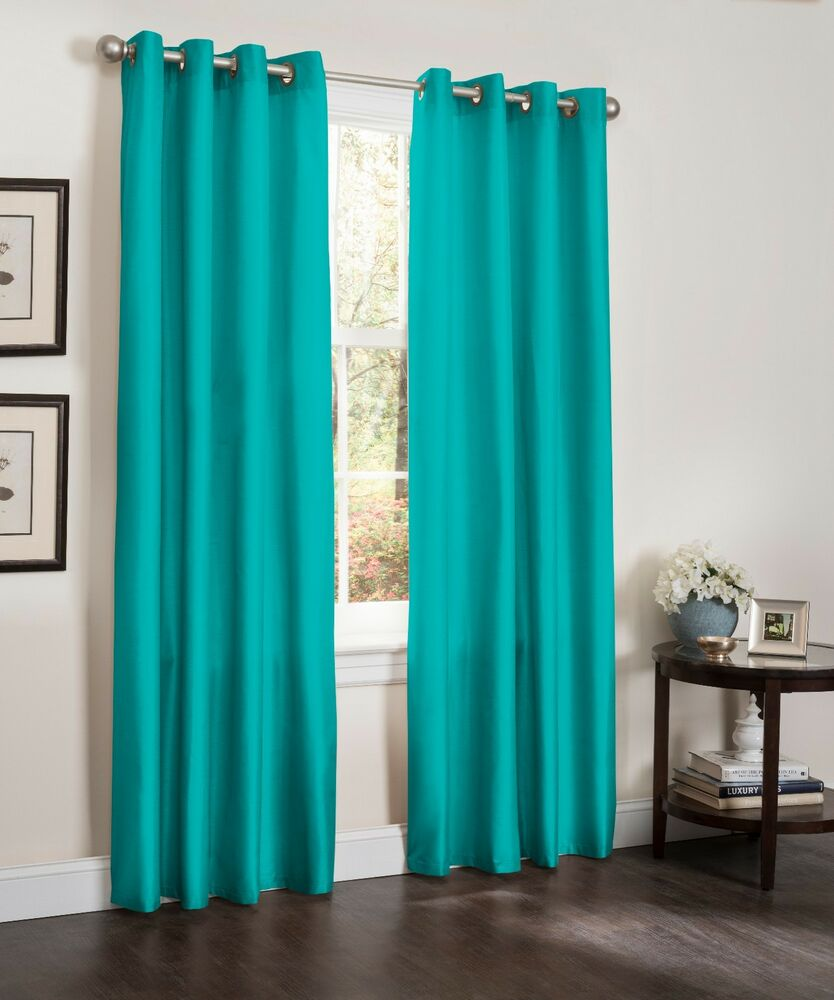 BLACKOUT WINDOW CURTAIN PANELS FAUX SILK ERIN 54X90