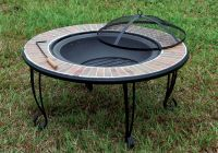 Banno Outdoor Patio Ceramic Tile Border Cast Iron Fire Pit ...