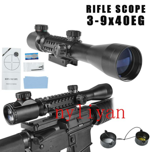 39x40EG Illuminated RedGreen Optics Sniper Scope Sight