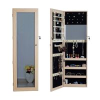 Full Length Mirror Jewelry Armoire Cabinet Chest with Lock ...