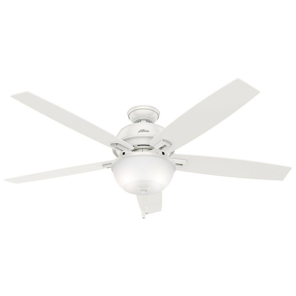 "Hunter 60"" Donegan Fresh White Ceiling Fan with Light"