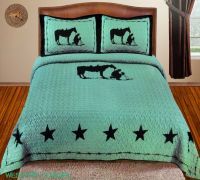 Texas Star Praying Cowboy Western Quilt Bedspread ...