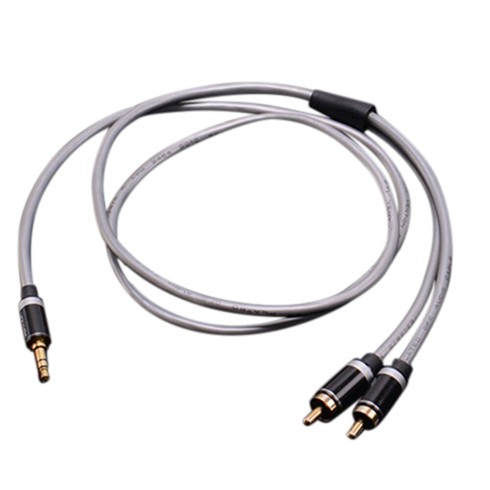 3.5mm Jack Plug to 2 RCA Stereo Jack Headphone Extension