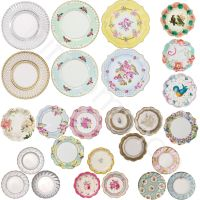Shabby Chic Luxury Paper Plates Vintage Style Party Plates ...