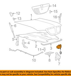 details about lincoln ford oem 06 11 town car hood lock latch 5w1z16700a [ 1000 x 798 Pixel ]