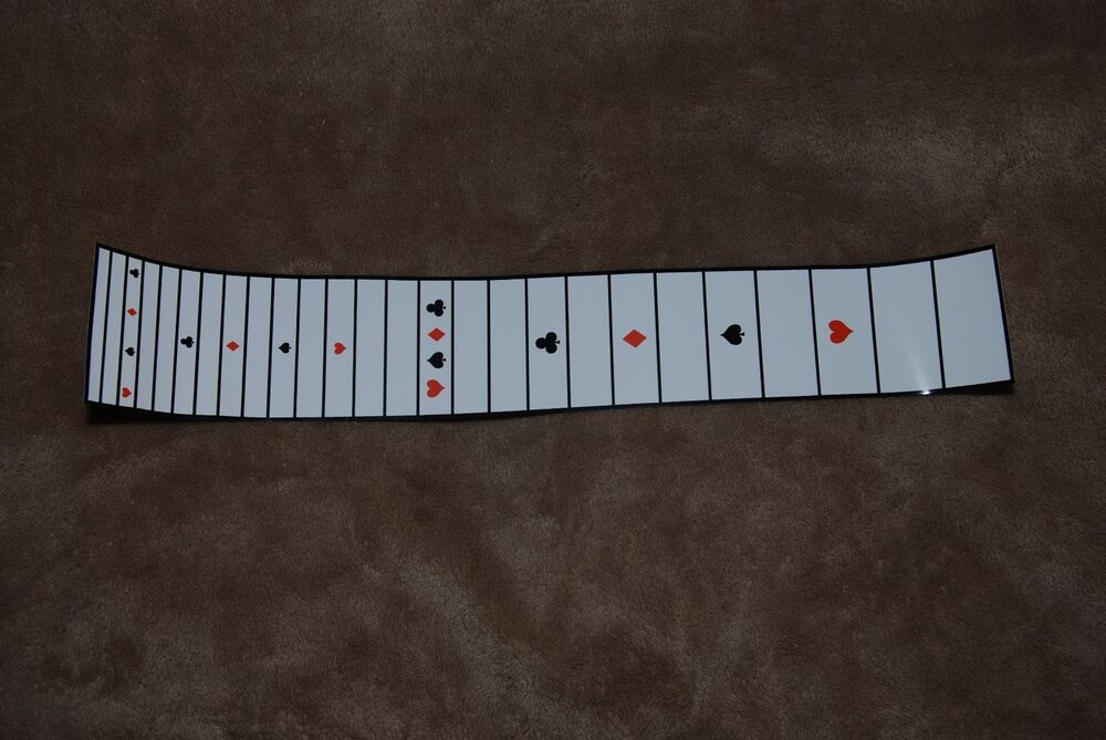 Pedal Lap Steel Guitar PeelNStick Fretboard 24 scale White with card markers  eBay