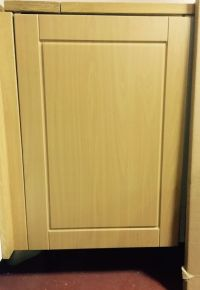 Medium Beech Effect Shaker Fitted kitchen cupboard cabinet ...