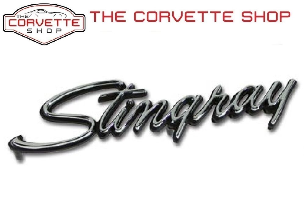 C3 Corvette Stingray Emblem Front Fender Trim Parts 1969