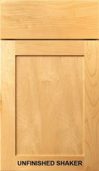 Unfinished Shaker Kitchen Bath Cabinet Doors Drawer Fronts ...
