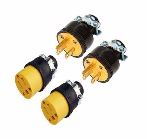 4 Male & Female 3 Wire Replacement Electrical Plug Ends, 3