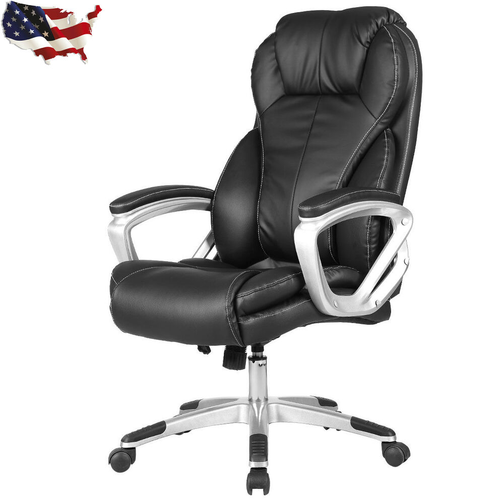 PU Leather Executive Office Chair High Back Ergonomic