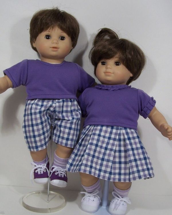 Matching Doll Clothes Skirt Shorts Tops Bitty Baby Boy