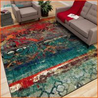 Unique Area Rug Multi Color Faded Design Bright Bold Teal ...