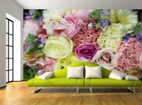 Pastel Roses Flowers Pretty Floral Wall Mural Photo ...