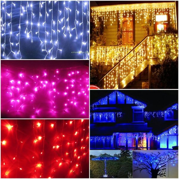 White and Blue LED Christmas Lights