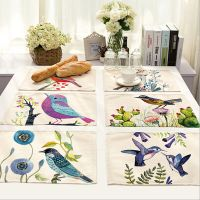 Flower Bird Placemats Insulation Place Mats Table Coasters ...