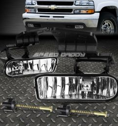 details about for chevy 99 02 silverado 06 tahoe oe style clear lens driving fog light lamp [ 1000 x 1000 Pixel ]