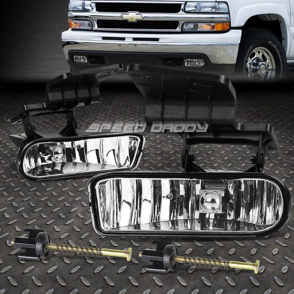 medium resolution of details about for chevy 99 02 silverado 06 tahoe oe style clear lens driving fog light lamp