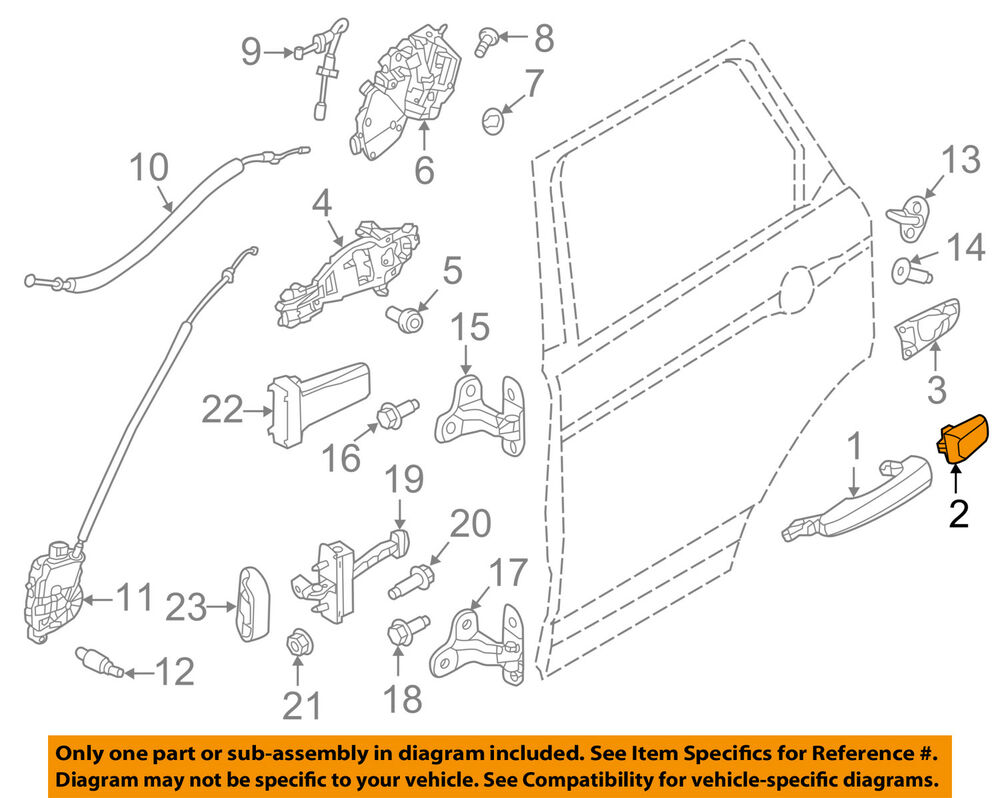 hight resolution of details about land rover oem range rover evoque exterior rear door lock cover cap lr025406