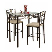 Small Kitchen Table and Chairs Counter Height Bistro Set ...