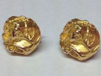 """LAPPONIA"" 14K YELLOW GOLD NUGGET STYLE CLIP EARRINGS"