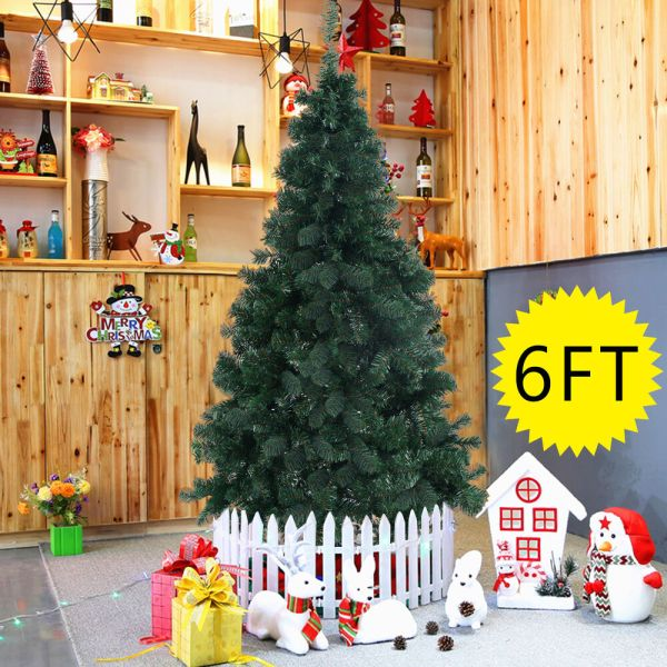 6ft Artificial Pvc Christmas Tree Withstand Holiday Season Indoor Outdoor Green