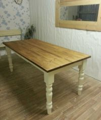 6ft x 3ft Solid Pine Farmhouse Kitchen Dining Table ...