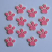 24 edible DOG CAT PAW PRINT animal CUPCAKE cake topper ...