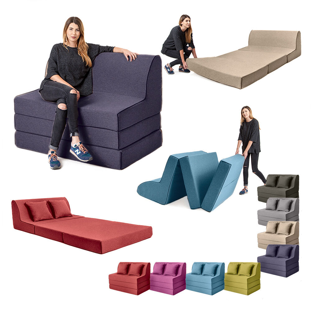 Foam Fold Out Chair Olivia Fold Out Foam Guest Z Chair Bed Sofa 2 Seater Sleep Over Folding Futon Ebay