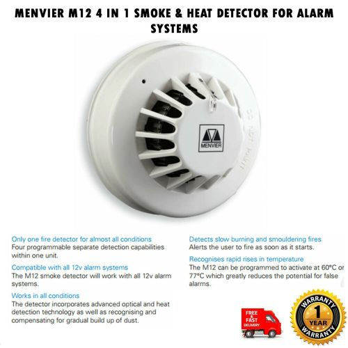 small resolution of  s l1000 menvier m12 4 in 1 smoke heat detector for alarm systems ebay menvier menvier smoke detector wiring diagram