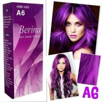 1xBERINA A6 PROFESSIONAL PERMANENT HAIR DYE CREAM VIOLET
