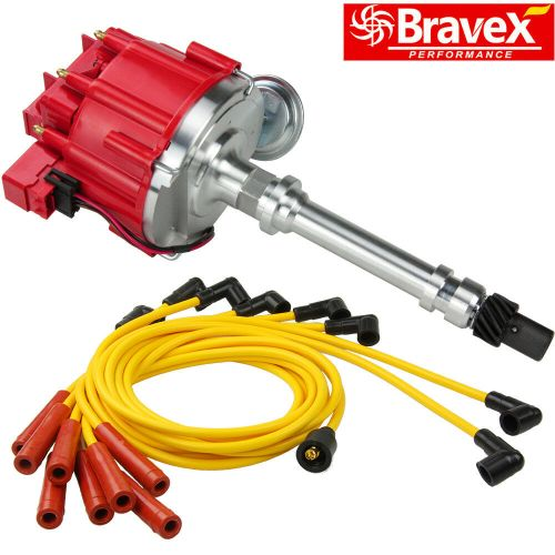small resolution of details about hei distributor for chevy gm small big block spark plug wires ignition combo kit