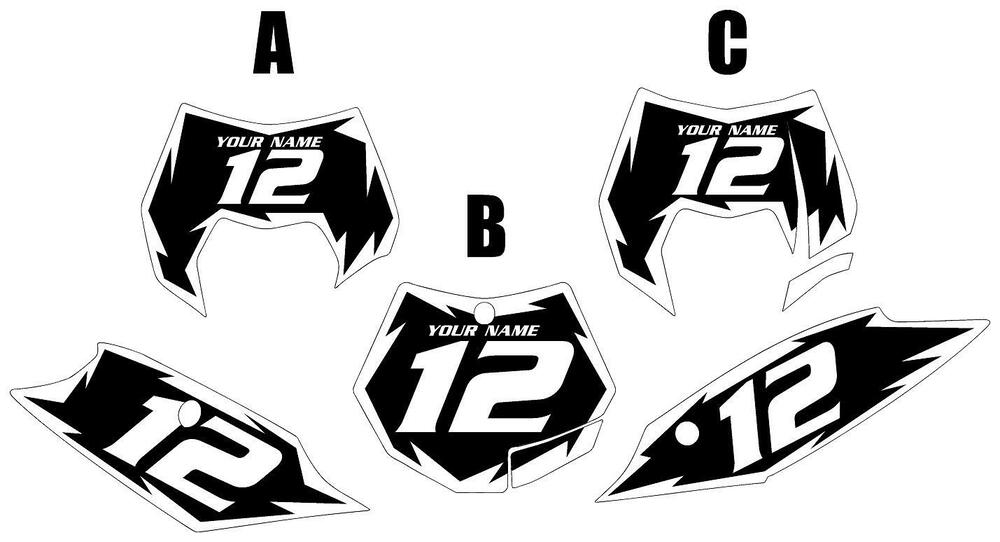 Fits KTM 350SX-F 2011-2012 Pre-Printed Black Backgrounds