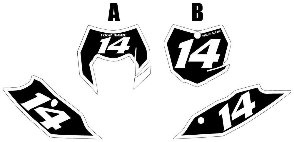 Fits KTM 350 XCF-W 2014-2016 Pre-Printed Black Backgrounds
