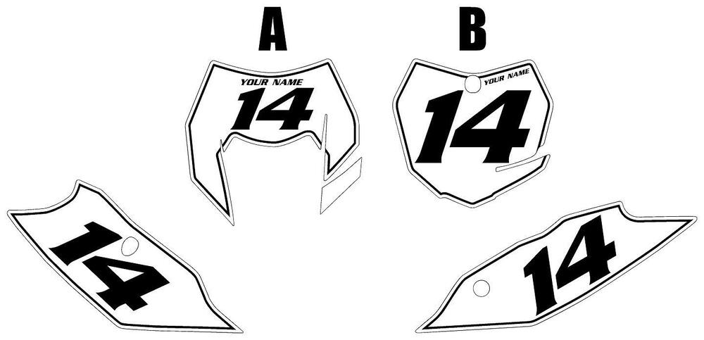 Fits KTM 500 XC-W 2014-2016 Pre-Printed White Backgrounds