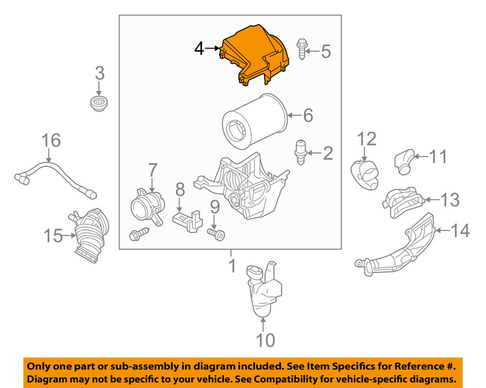 medium resolution of details about ford oem air cleaner intake filter box housing lid top cover cv6z9661a