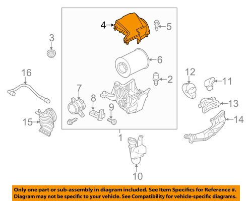 small resolution of details about ford oem air cleaner intake filter box housing lid top cover cv6z9661a